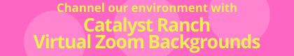 Click here to channel our environment with Catalyst Ranch Virtual Zoom Backgrounds!
